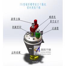 Secador de vácuo de fita helicoidal em forma de cone