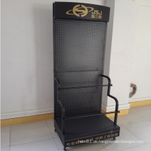 Pegboard Movable Metall Display Stand mit Rädern