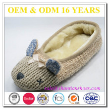 2016 Knitted Animal Fuzzy Lovely Woman Slipper