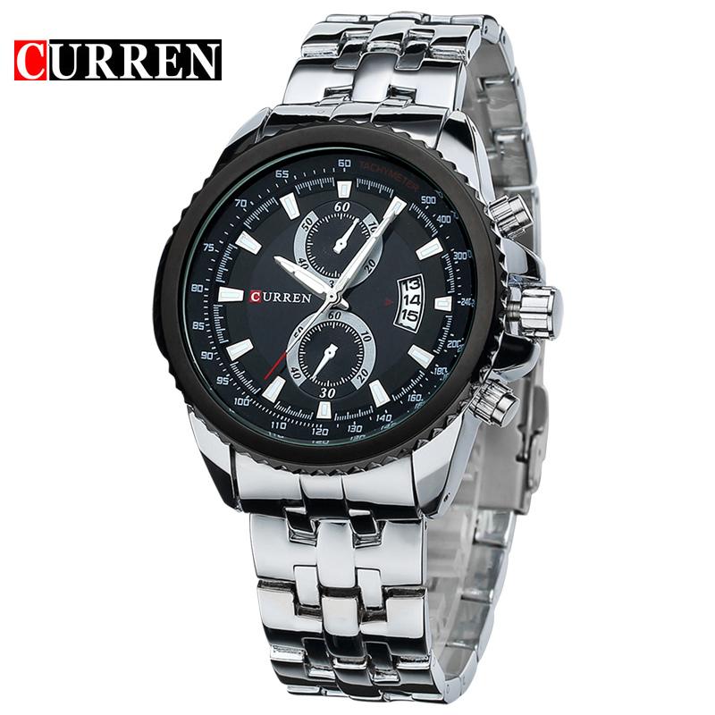 Stainless Steel Men Business Quartz Sport Watch