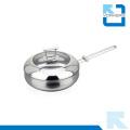 Poêle à double fond en acier inoxydable 304 en acier inoxydable de haute qualité