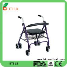 Faltbarer Roller Walker mit PVC weichen Sitz Einkaufstasche