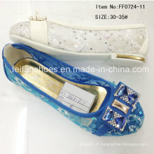Chaussures Popular Fashion Girl Chaussures Princess Chaussures Single Shoe (FF0724-11)