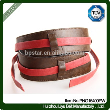 Female Genuine leather Belt ,Lady Coffee Color Wide Waistband