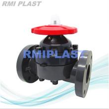 Пластиковый мембранный клапан ПВХ корпус ANSI CL150