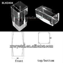K9 Leer Crystal für 3D Lasergravur BLKD494