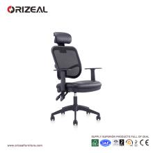 Orizeal Black Mesh Silla de oficina ergonómica con reposacabezas (OZ-OCM002A)