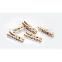 Color de la naturaleza mini brich clavijas de madera