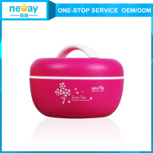Venta caliente Apple linda Pastice Double Layers Lunch Box para niños