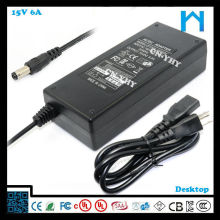 120v power transformer 15v dc 6a 90w UL listed