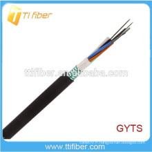 Câble à fibre optique extérieur à couche de bande en acier GYTS 4-144Core