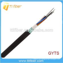 Camada de fita de aço Cabo solto de fibra óptica ao ar livre GYTS 4-144Core