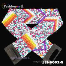 Moda de cintos trançados barato frisado cintos
