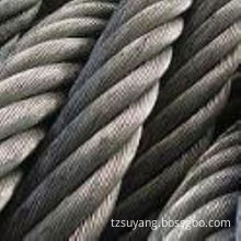 6X37+Iwrc 38mm Stainless Steel Strand Wire Cable / Rope