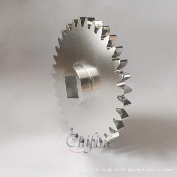 Custom Aluminum Die Cast y engranajes de mecanizado con anodizado