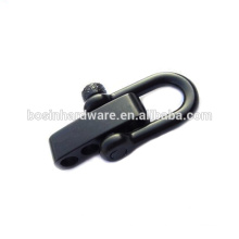 Fashion High Quality Metal Black Knurled Stainless Steel Shackle For Bracelets