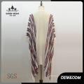 Femmes Fashion Boho tricoté rayé frange Poncho chemise