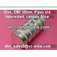 Gesinterten Scheibe D50x25mm Ndfeb magnet