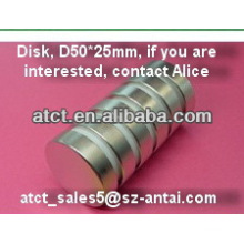 Sintered disk D50x25mm ndfeb magnet