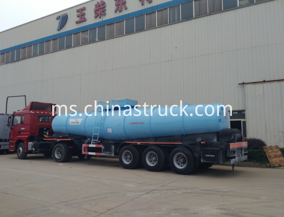 21000 liters V shape sulfuric acid tank semi-trailer