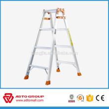 escalera de aluminio, escalera de paso tipo A, escalera de aluminio