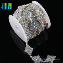 China Supplier Fashion Garment Accessory Decorative Crystal Applique Rhinestone Chain Trim