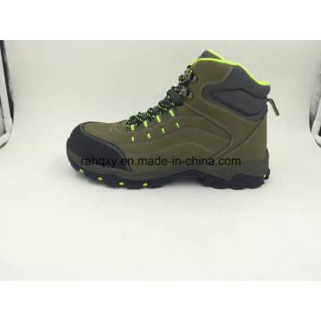 Segurança proteção couro Material aço Toe sapatos ao ar livre (16101)