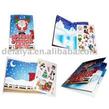 Рождественская книга многоразовые наклейки