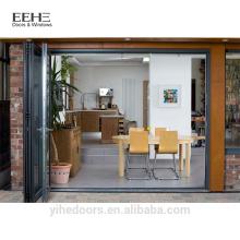 Kerala aluminum glass accordion door and window for office