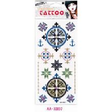 As tatuagens da composição das meninas personalizaram a etiqueta tempoia do tatuagem do corpo do pó do brilho com preço competitivo