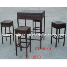 Alu Rattan Bar Set Furniture (PAD-3179)