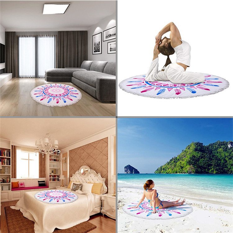 summer microfiber circle beach towel