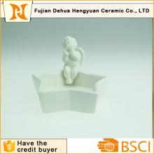 Керамический угольник с подставкой для домашнего украшения