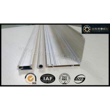 Perfil de trilha de cortina de alumínio para persianas com cor de madeira