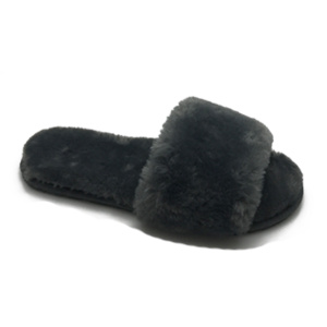 Reliable for Ladies Black Sheepskin Slippers Best comfy indoor women's fur slides slippers supply to Kuwait Exporter