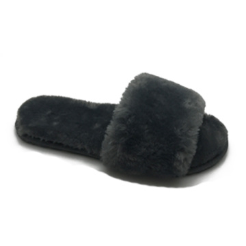 Best comfy indoor women's fur slides slippers