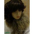 Wholesale Long Hair Curly Fur Mongolian Lamb Fur Wool Scarf