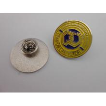 Выдвиженческие штыри отворотом, изготовленный на заказ значок эмали (GZHY-ТИЦ-045)