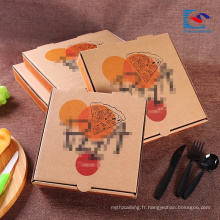 logo personnalisé Cheaper Recycle E-Flûte Boîtes à pizza en carton ondulé