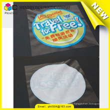 Latest new model decoration custom polyester sticker label