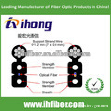 2-Fiber cheap Self-Supporting FTTH Drop Aerial Optical Fiber Cable