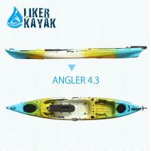 4,3 m pescador plástico único asiento Wilderness Kayak