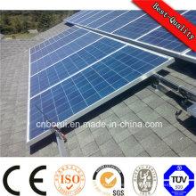 Panneau solaire mono / poly pour la centrale électrique de réseau d'énergie solaire de grille on / off