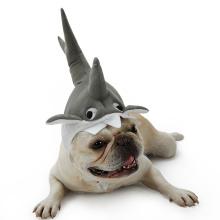 Bonito Tubarão Projeto Gato Cão Traje Acessórios Halloween Cosplay Pet Hat