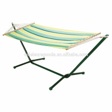 Camping Outdoor Leisure Furniture Striped Hammock With Stand