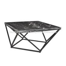 Industrial Granite Top with Metal Base Coffee Table