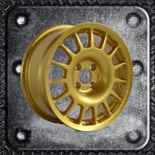 Gunmetal painted aftermarket alloy wheel