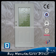 Fangda 32-in 1/2 light wooden frame polyurethane foam injected decorative steel interior door with glass