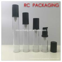 Botella airless pequeña de 5ml / 8ml / 12ml / 15ml, botella airless de la bomba plástica, botella airless cosmética