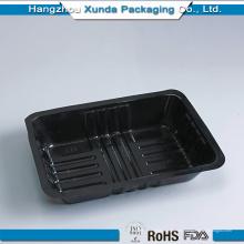 Personalización de la bandeja de comida negra para horno de microondas